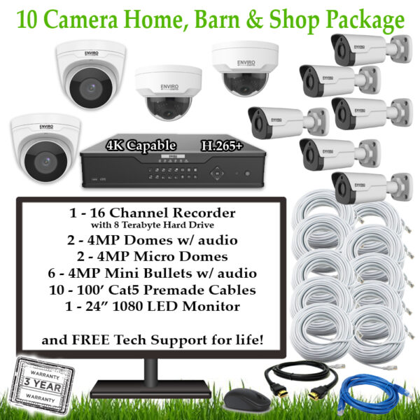 10CamFarmHomeBarnShop 1 600x600 - 10 Camera Home, Barn & Shop Package