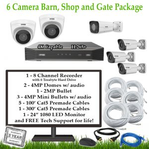 6CamFarmBarnShopGate 1 300x300 - 6 Camera Barn, Shop & Gate Package